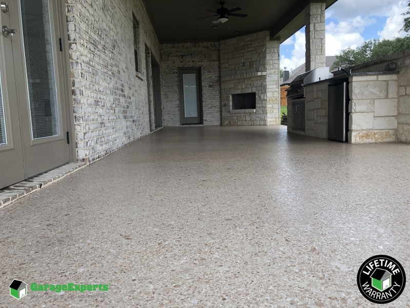 Residential Patio Epoxy Flooring In Waco Tx Garage Experts Of