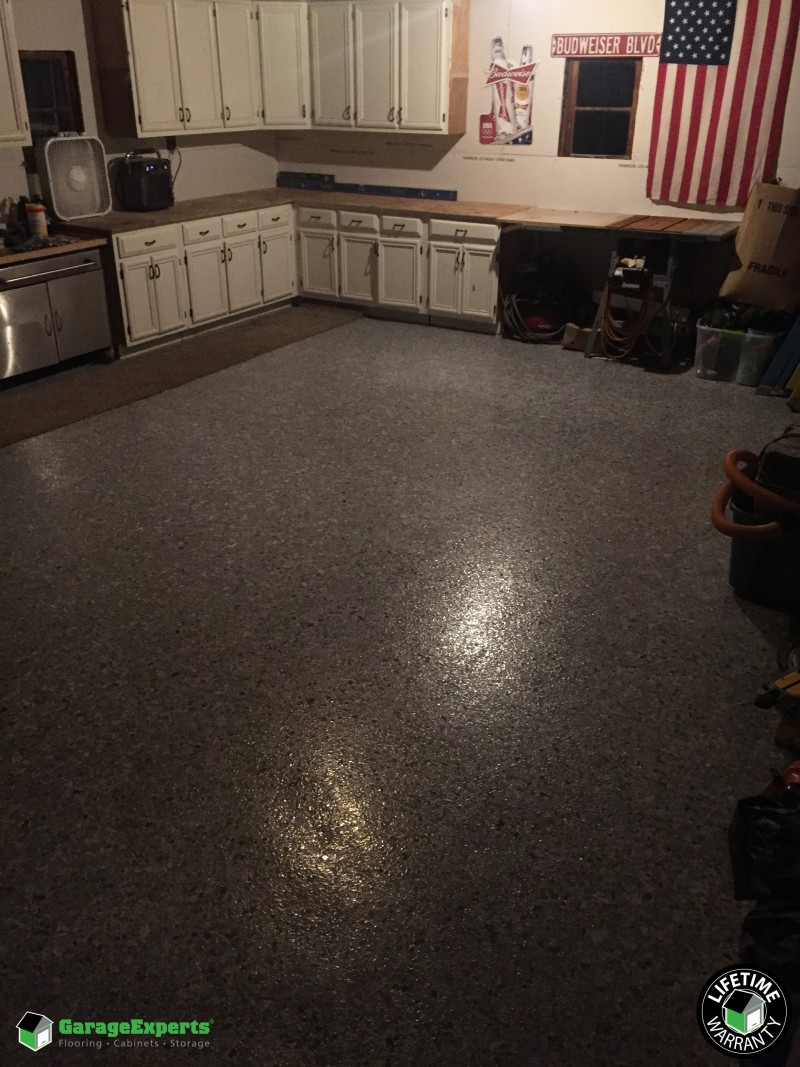 Beautiful Epoxy Garage Floor Installed In Lisle, IL