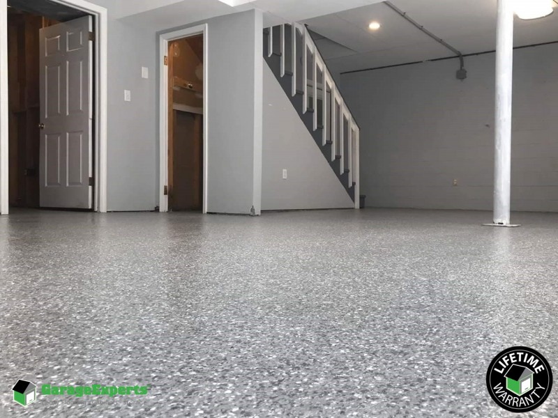 Residential Basement Epoxy Flooring In Ashburn Va Garage