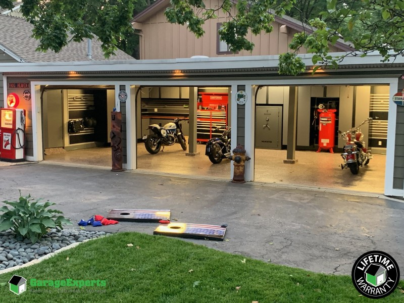 Ultimate Man Cave Garage Makeover Installed In Kansas City