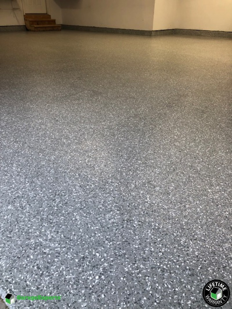 Epoxy Garage Floor In New Baden Il In The Color Smoke Garage Experts Of Southern Illinois