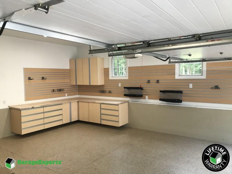 Residential 2 Car Garage Cabinet Storage Solution In Gloucester Va Garage Experts Of Virginia Peninsula