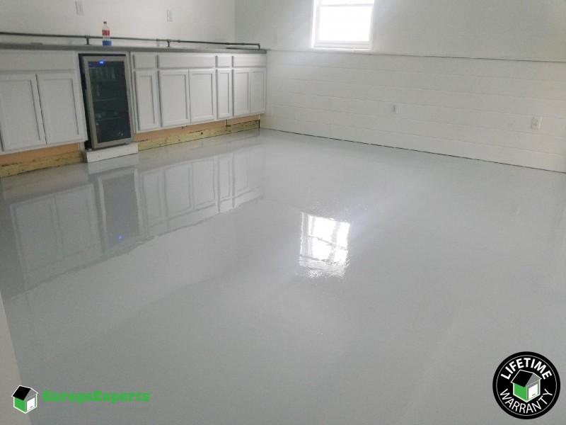 Residential Basement Epoxy Flooring In Salem Nh Garage Experts