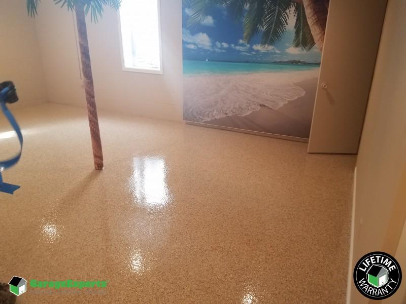 Basement floor  ...