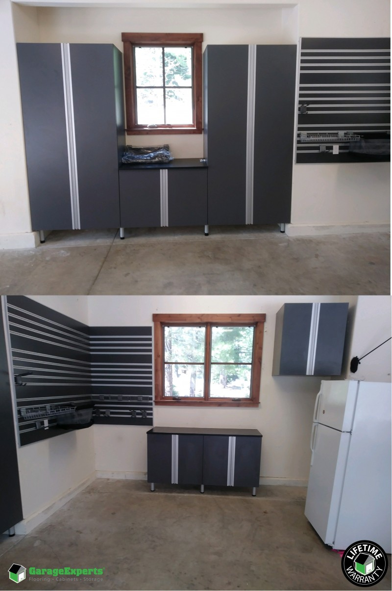 Truckee Garage Cabinets   New Garage Storage Solution