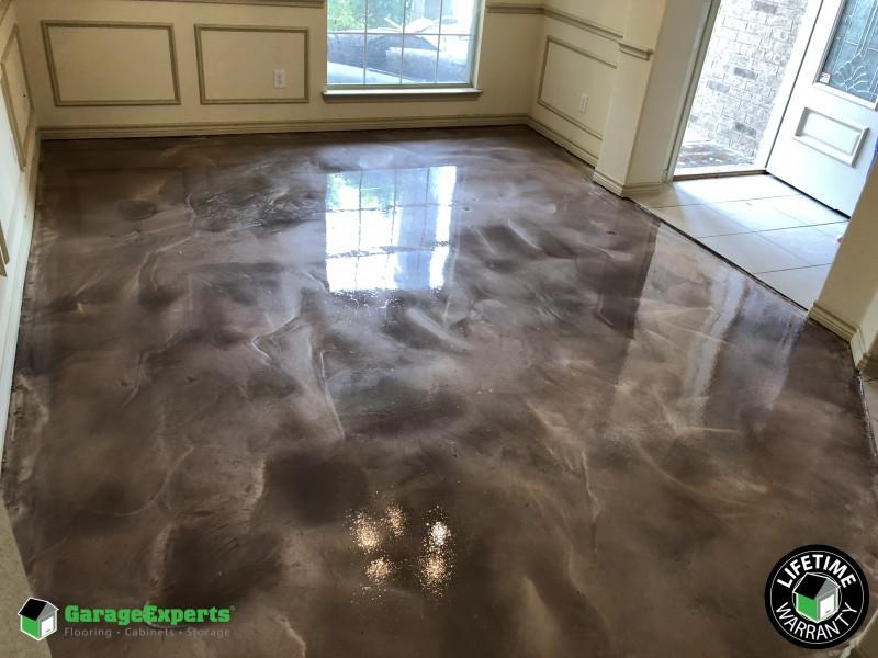 Metallic Epoxy Flooring Displays as Art!