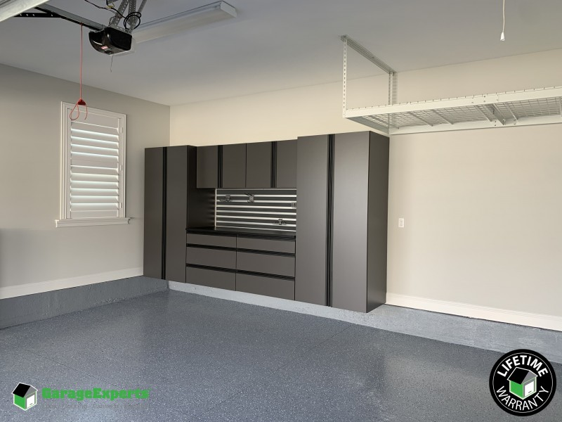 Residential Garage In Nocatee Cabinet Storage Solution In Ponte Vedra Florida Garage Experts Of Jacksonville