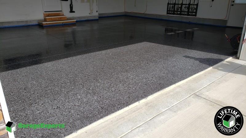 Epoxy Garage Floor installed in Smithville, MO