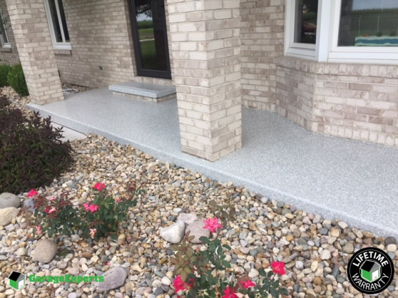 Light Grey front porch in Litchfield, IL