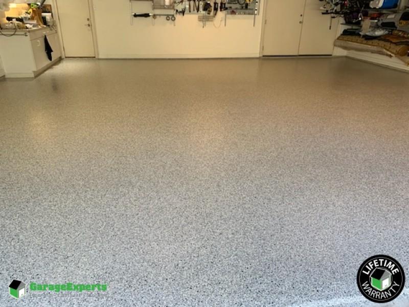 Industrial Strength Epoxy flooring installed in Garage in Dallas, TX