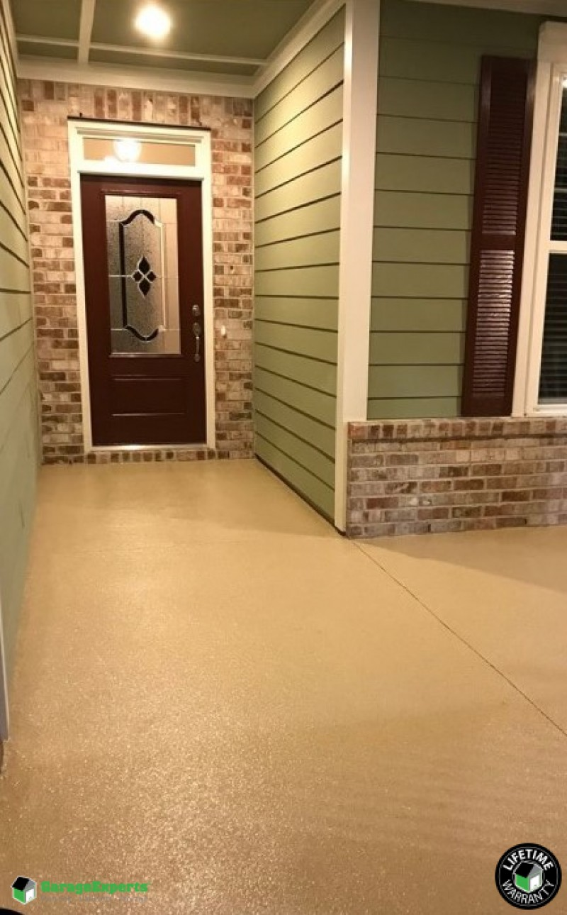Front entryway beautifully transformed with our epoxy, in Myrtle Beach, SC