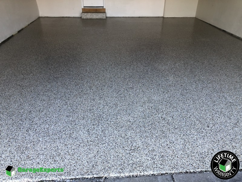 Garage coating completed in Anderson, OH