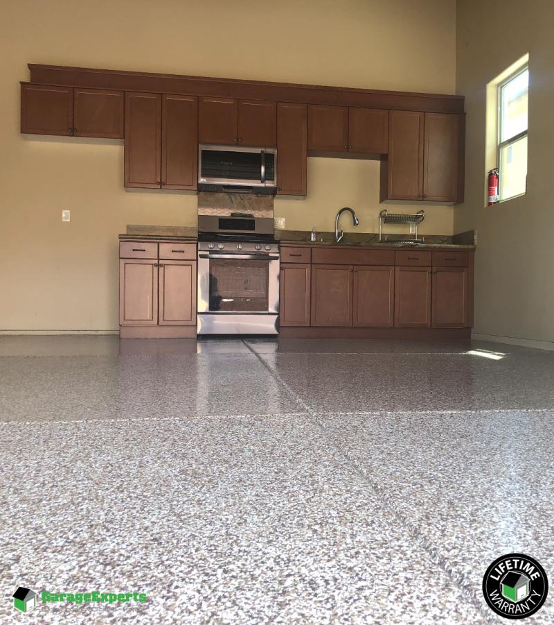 Residential In Garage Kitchen Epoxy Flooring in Fresno, Ca ...