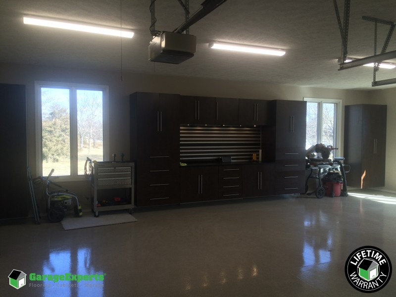 Epoxy Garage Flooring And Garage Storage Cabinets In Springfield, Mo