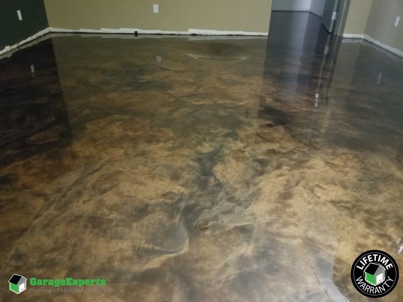 Metallic Basement floor in Evergreen, Colorado