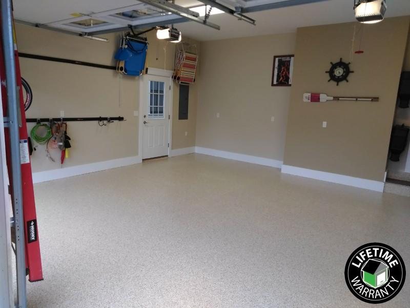 New Epoxy Garage Floor in Ocean View, DE