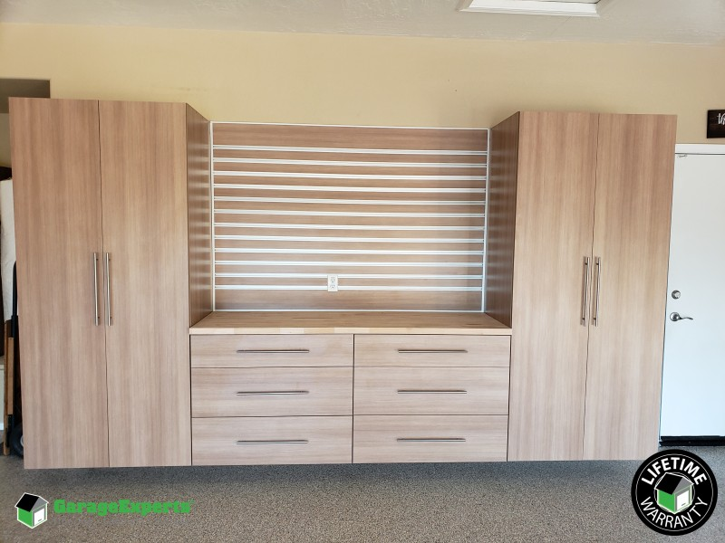 Premium Cabinets with matching slat and Butcher Block - Phoenix AZ