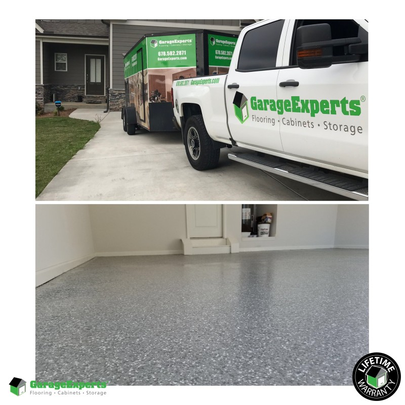 Epoxy floor installed in Oakwood, Ga