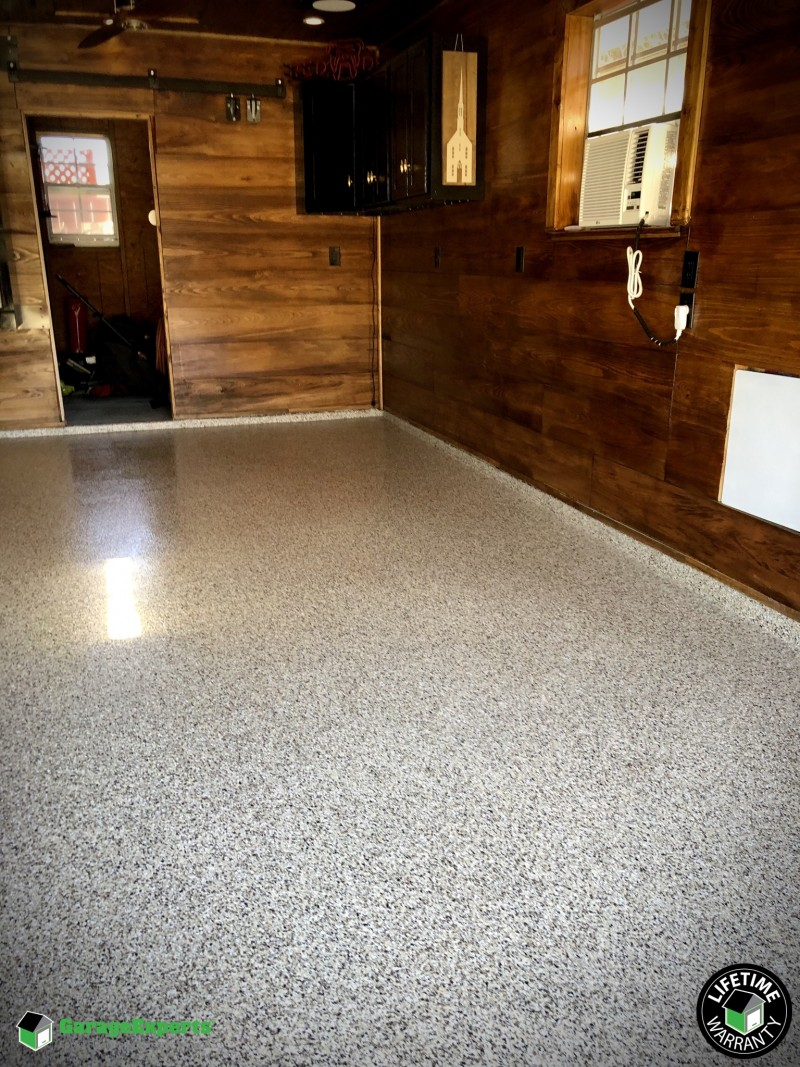 Residential Man Cave Epoxy Flooring In Kenner La Garage Experts Of New Orleans