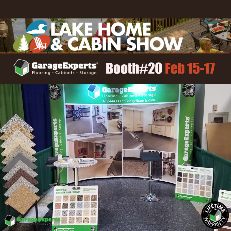 Epoxy flooring - Lake Home and Cabin Show