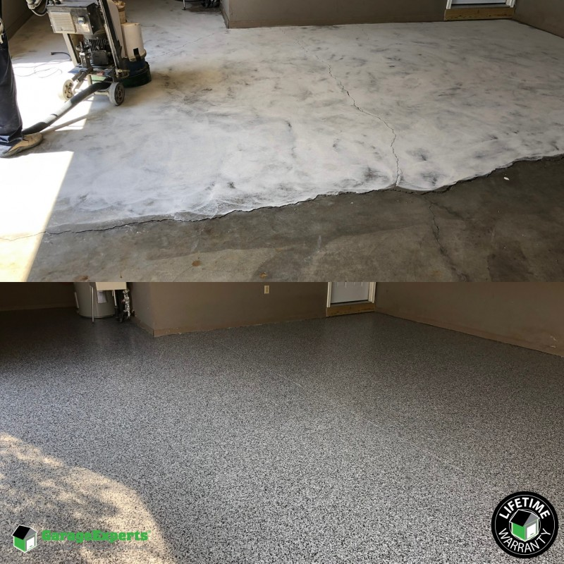Lexington KY garage floor makeover