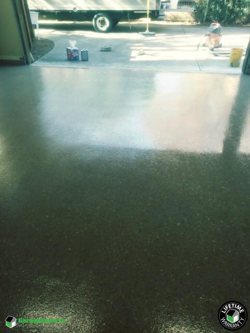 Epoxy flooring installed in Southlake, TX