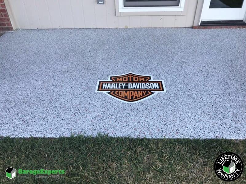 Custom Harley Davidson Epoxy Floor Installed in Waco, TX