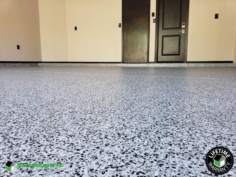 Lifetime Warranty Full Flake System Epoxy Floor in Phoenix Arizona
