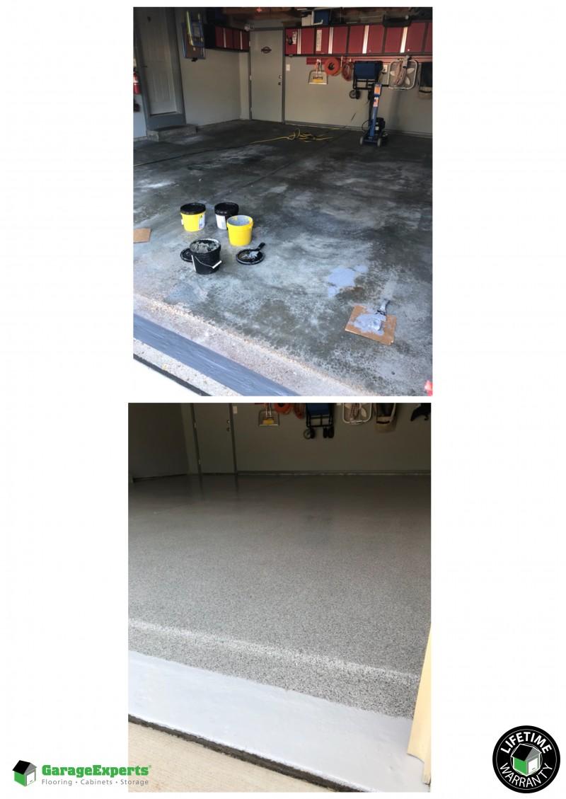 Epoxy garage flooring installed in Wildwood, MO