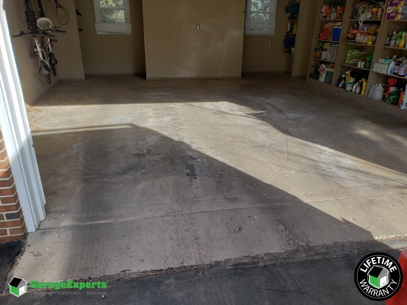 Damaged floors ...