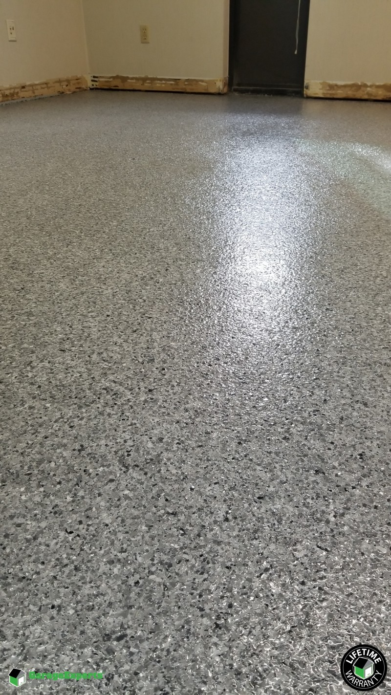Epoxy Floor With Chip Color Lanai Gray In Evansville, IN